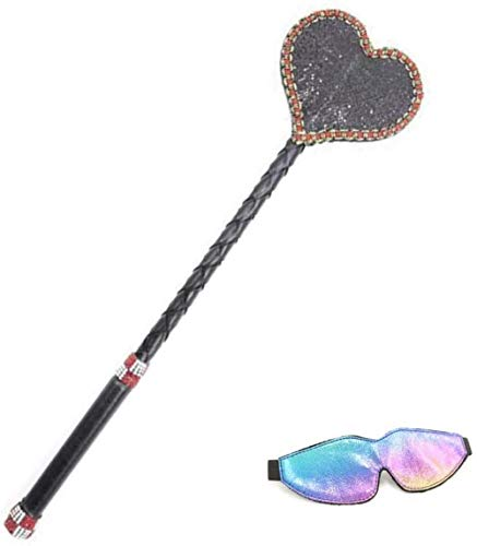 Huangte Couple Toy Set Leather Heart Paddle and Blindfold Cosplay Props HY0511