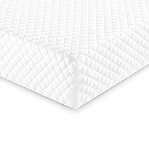 Baby Crib Toddler Bed Memory Foam Mattress Breathable Dual Sided Firm Side for Infants Soft Side Toddlers Crib Mattress Pads with Removable Cover 52 x 27.5 x 5.5 inches