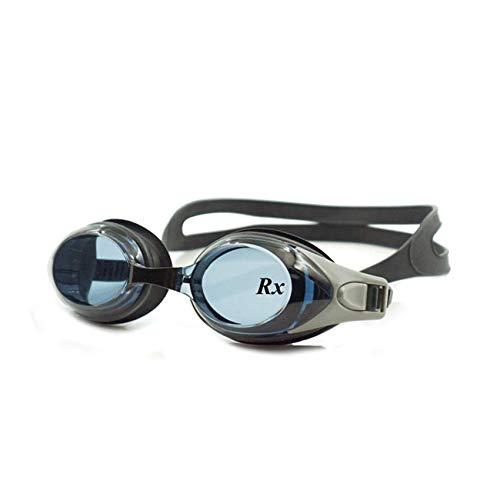 EnzoDate optische Brille Hyperopie RX + 1 bis + 8 Myopie - 1 bis-8 Erwachsene Kinder unterschiedliche Stärken für jedes Auge Schwimmen(Kraft: -2,Schwarz)