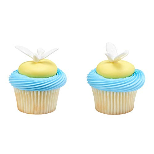 White Dove Cupcake Cake Picks - 24 pc
