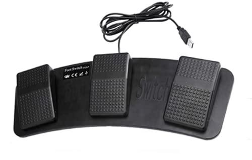 BJS FS3-P USB3連フットペダルスイッチ 12cmCD付 ドライバ FootSwitch ver.7.3.0ショートカットなどのキーボードやマウスの操作が足で踏んで可能に