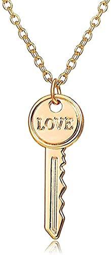 Aluyouqi Co.,ltd Halsband hänge halsband med hänglås och nyckelpar halsband för kvinnor och män romantisk kärlek vänskap löfte halsband