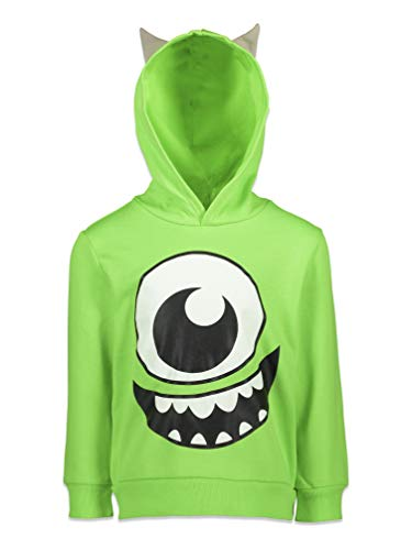 Disney Pixar Monsters Inc Mike Wazowski Little Boys Costume Fleece Hoodie Ears 6-6X Green