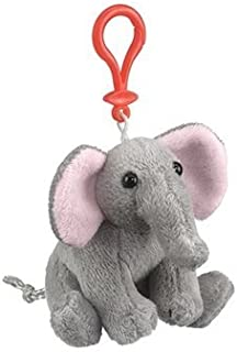 Elephant Plush Elephant Stuffed Animal Backpack Clip Toy Keychain Wildlife Hanger by Wildlife Artists