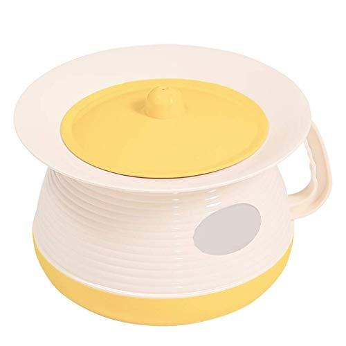 Orinal y Tapa con Inodoro Inodoros portátiles Orinales de cámara, Orinal de plástico Cubos de orina Femeninos Orinales de orina, Orinal de cámara con Tapa Urinarios para Evitar Que los olore