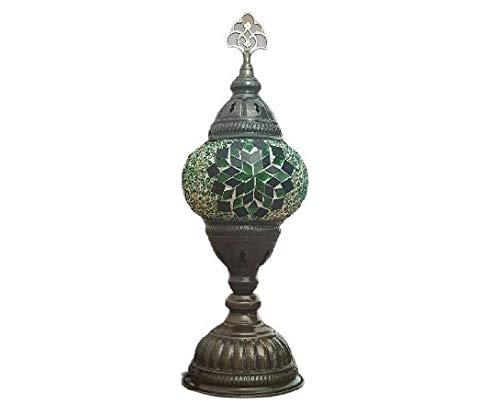 Lampara Marroqui de Mesa-Lampara turca Decoracion-Mosaico-Bombilla Incluida-4 Colores