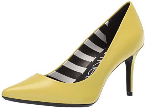 Calvin Klein Women's Gayle Pump, lime kid skin/stripes, 6 M US