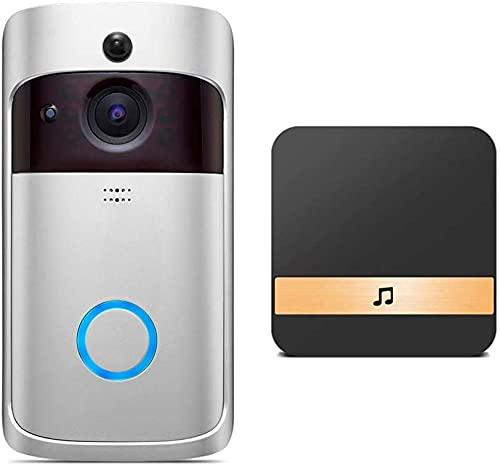 Vídeo Timbre 720 p HD Cámara de la puerta intercomunicador inalámbrico WiFi Visual Timbre de la puerta inteligente del hogar Monitores de seguridad visión nocturna