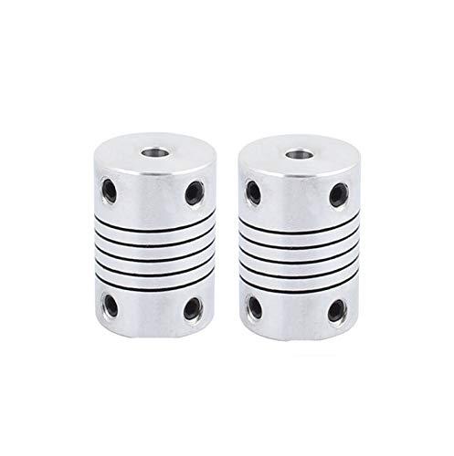 Xnrtop 4mm to 4mm Shaft Coupling 25mm Length 18mm Diameter Stepper Motor Coupler Aluminum Alloy Joint Connector for 3D Printer CNC Machine DIY Encoder(Pack of 2)
