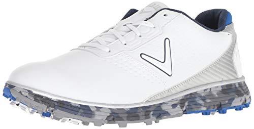 Callaway mens Balboa Trx Golf Shoe, White/Blue, 9.5 US