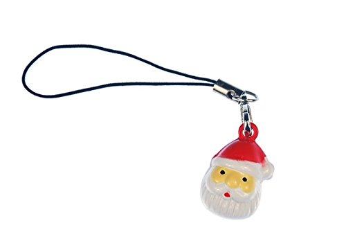 Miniblings Babbo Natale Telefono Ciondolo Testa Ornamenti di telefonia Mobile e della Santa Pasqua a Mano Gioielli Ciondolo della Moda Mi Portachiavi