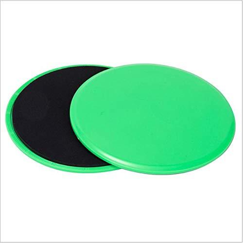 Zljljlj 2 x Delta de los Discos Core Sliders Doble Cara Home Fitness Gym Ejercicio púrpura (Color : Green)