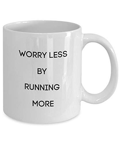 Regalo para corredores Taza de café Preocuparse menos por correr más verdad