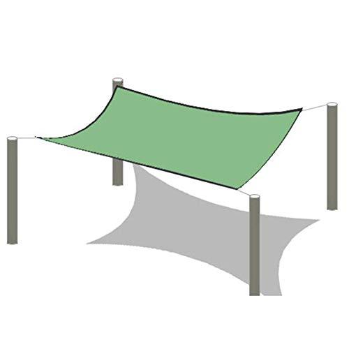 WYJW 80% groen schaduwdoek, bekleed met tape met oogjes - UV-bestendig schaduwdoek voor ramen zonnebrandcrème (grootte: 2x4M) 2x8m