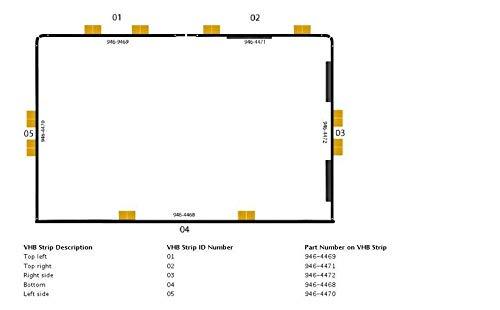 iMac A1418/A1419/54,6/cm 68,6/cm schermo attrezzi di apertura kit adesivi di strisce lotto