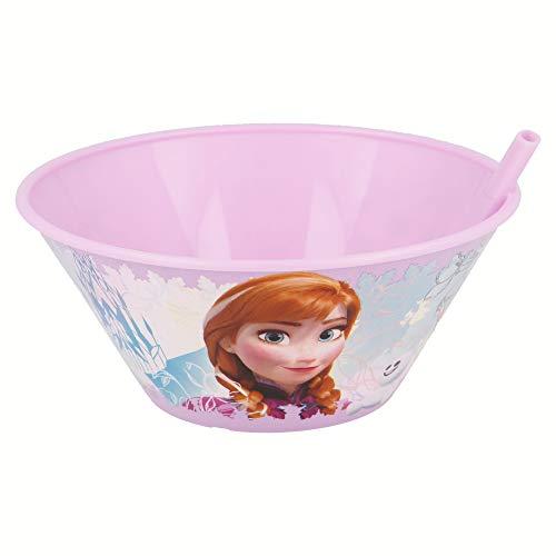 Stor Bol à petit-déjeuner avec paille 500 ml Plusieurs licences disponibles (Disney, Cars, Frozen, Minions, Spiderman...) Frozen