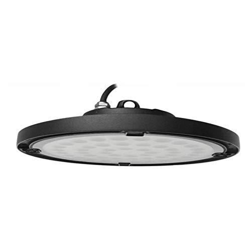 FactorLED Campana industrial LED UFO 150W Chip OSRAM 2835-2D 130lm/w Iluminación lampara ideal para naves industriales, IP65 Exterior, No flick, 5 años de Garantía (Luz Fría (6000K))