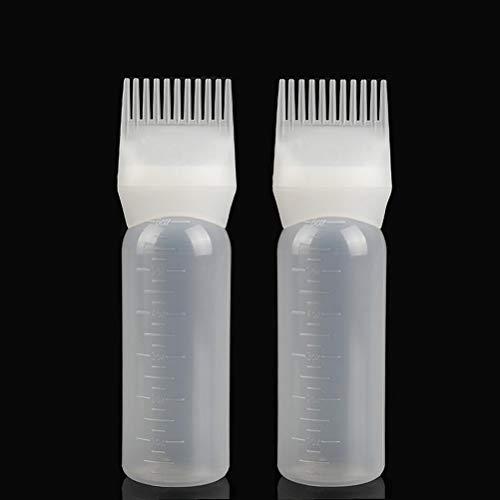 Uoeo 2 Pack Haarfärbekamm Flaschenkamm Bleichmittel Tönungsset Friseurfrisur, 120 ml