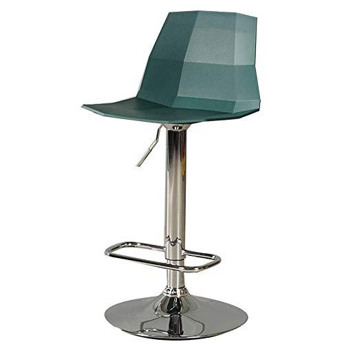 Barkruk rug, draaikruk, barkruk, back, home moderne, minimalistische barkruk, draaibare kruk, creatieve casseerder, lift, barstoel, kleur: mintgroen, maat: 60-80 cm 60-80cm dark green