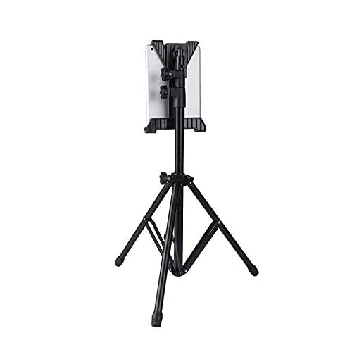 Soporte para Tableta de aleación de Aluminio para Soporte de micrófono Altura Ajustable 66.7-163/26.3-64.2in Accesorio de iPad Gris Plateado para teléfono XR/XS MAX/X / 8/7/6 / 6S / Plus iPad