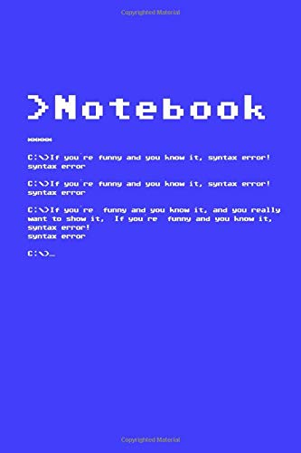 Notebook: syntax error | C64 | sketchbook | idea book | funny programming nerd cover | 70er 80er | Retro | 110 blank pages | 6