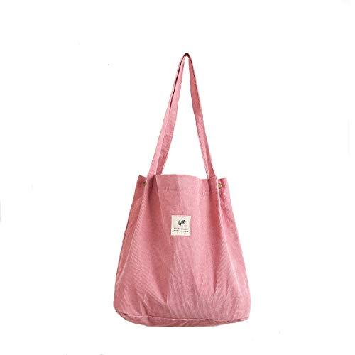 Gophra - Bolsa de hombro para mujer, niña, con bolsillo interior para trabajo, playa, almuerzo, viajes y compras, color rojo sandía