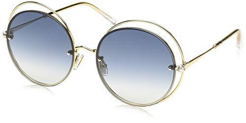 Max Mara Mm Shine I, Occhiali da Sole Donna, Gold, 56