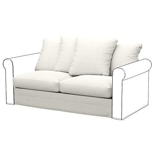 IKEA GRONLID elemento letto a 2 posti, tessuto Elegance Ecru, ecru