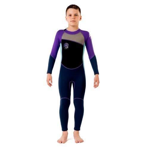 Z.L.FFLZ Nadelanzug Neoprenanzug for Lange Ärmel Kinder Taucheranzüge Kinder Swimwears EIN Stück Schnorcheln Rashguard Neoprenanzug Surfen (Color : 2, Size : 2 Height 70 90CM)