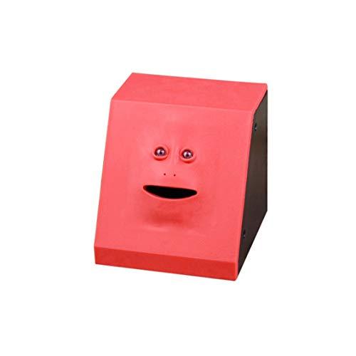 Geld Essen Gesicht Box Nette Facebank Piggy Coins Bank Lustige Geld Münze Sparen Bank Kinder Spielzeug Geschenk Dekoration - Panel Rot