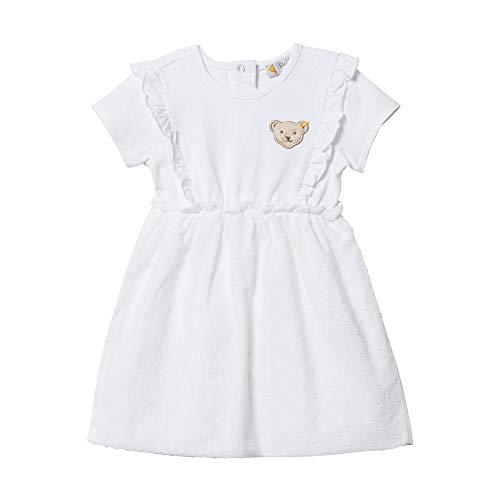 Steiff Mädchen Kleid, Weiß (Bright White 1000), 74