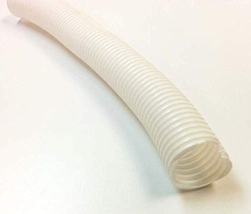 Electriduct 1' Split Wire Loom Tubing Polyethylene Corrugated Flexible Conduit (1 Inch ID) - White - 10 Feet