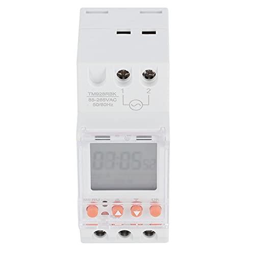Interruptor de Temporizador AnalóGico Inteligente, Temporizador de Interruptor de Luz Programable, 85-265V 30A Interruptor de Montaje en Riel Din Interruptor de Temporizador Digital para los Fans