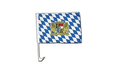 Flaggenfritze Autofahne Autoflagge Deutschland Bayern Löwe - 30 x 40 cm