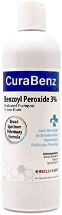 BEXLEY LABS Curaseb Benzoyl Peroxide Dog Shampoo for Dogs Cats Relieves Scratching Scaling Dandruff product image
