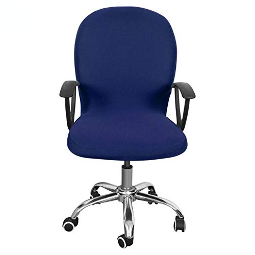 LLAAIT S/M/L Stretch Office Comter Chair Cover Rotating Desk Seat Spandex Waterproof Elastic Chair Slipcover Washable Removeable