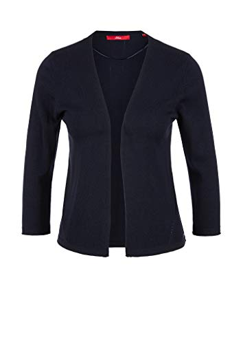 s.Oliver RED Label Damen Cardigan mit Lochmuster-Details Navy 38