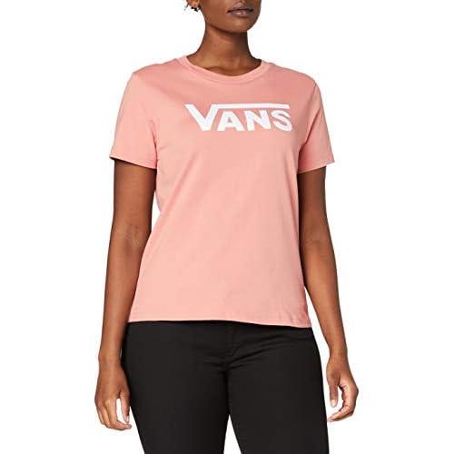 Vans Flying V Crew Tee T-Shirt, Rose Dawn, M Donna