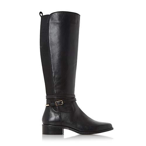 Dune London Damen Taro Biker Boots, Schwarz (Black Black-Leather), 36 EU