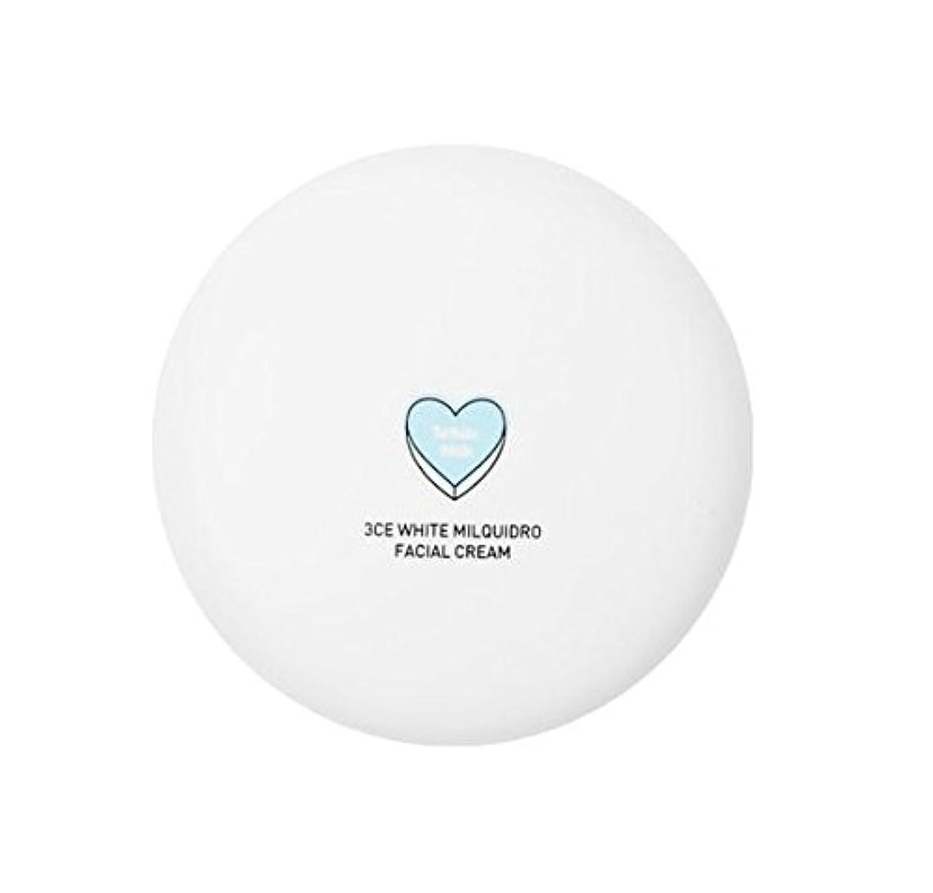 署名痛み道徳の3CE WHITE MILQUIDRO FACIAL CREAM 50ml / 3CE ホワイトミルクウィドローフェイシャルクリーム [並行輸入品]