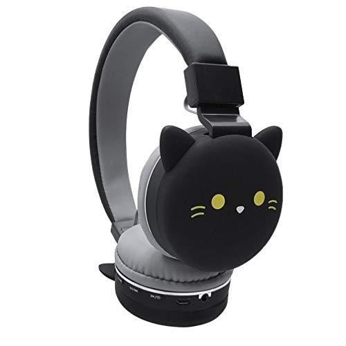 ULTECHNOVO Oreja Auriculares 3D Gato Negro Auriculares