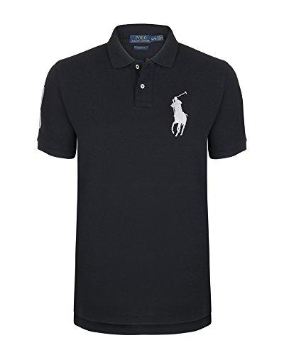 Ralph Lauren, Herren Poloshirt, Farbe: Navy, Big Pony: Weiß (M)