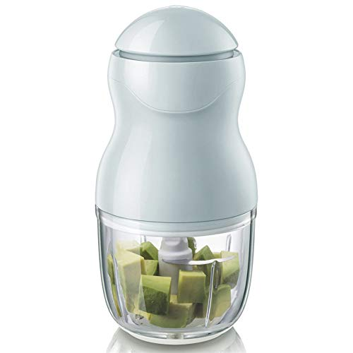 Ysss Baby-Hilfsmaschine Chopper Mini Fleischwolf Kochmaschine 0,3 Liter Glas,Blau