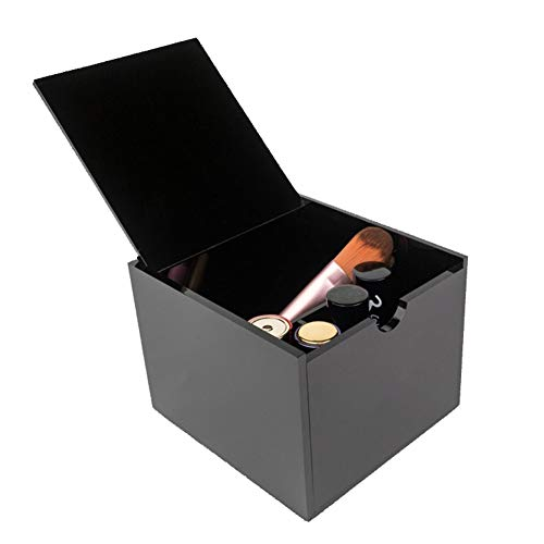 LEINUODA Acryl Kosmetik Aufbewahrungsbox Lippenstift Make-up Kunststoff Box Große Make-up Box Display Stand Desktop Schwarz Aufbewahrungskommode