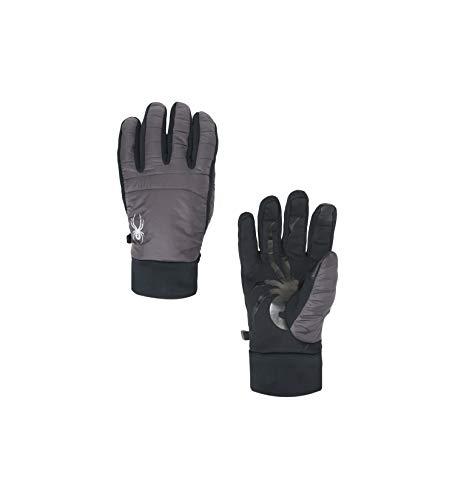 Spyder Men's Glissade Hybrid Glove, Black/Black/Black, Medium