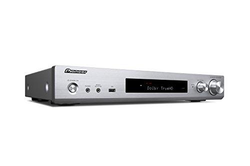 Pioneer 5.1 Kanal AV Receiver, VSX-S520D-S, Hifi Verstärker 80 Watt/Kanal, DAB+, WLAN, Bluetooth, Multiroom, Dolby TrueHD/DTS-HD, Musik Apps (Spotify, Deezer u.a.), Internetradio, Silber