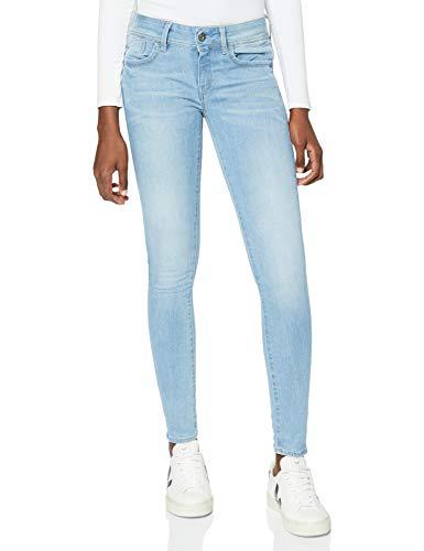 G-STAR RAW Damen Jeans Lynn Mid Waist Skinny Jeans, Blau (lt aged 6553-424), 25W / 30L