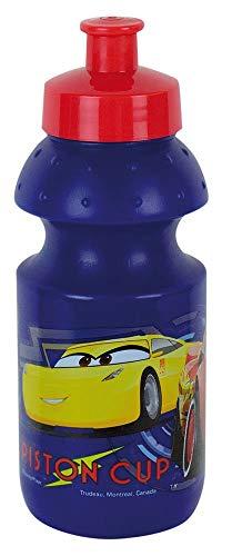 FUN HOUSE 005513 Disney Cars Gourde Sport pour Enfant, PP/PE, Bleu, 6,5 x 6,5 x 17,5 cm
