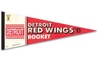Old Time Detroit Red Wings Hockey Premium Quality Felt Pennant