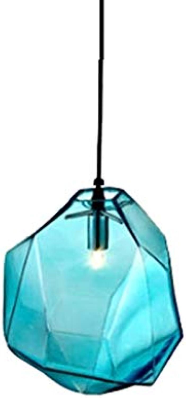 XTF-LIGHTS LED Stein Kronleuchter Kreative Farbe Stein Lampe Einfache Moderne Persnlichkeit Unregelmige Stehtisch Coffee Restaurant Glas Kronleuchter Blau